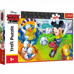 Puzzle Trefl Disney Mickey Mouse, Mickey pe terenul de sport 100 piese