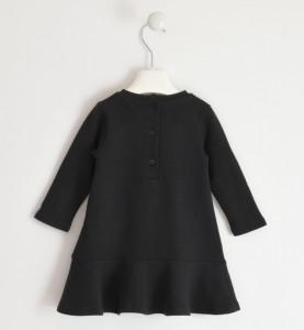 Rochita de fetita din bumbac IDOcu pisica pufoasa, culoare negru