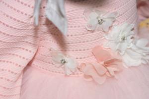 Rochiță Melisa cu floricele și tulle
