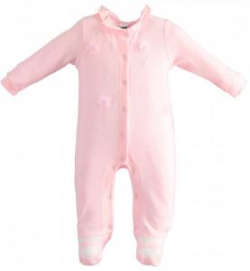 Salopeta fata bebelusa , Ido , bumbac , roz cu fundite