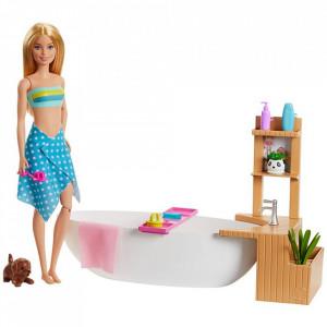 Set Barbie by Mattel Wellness and Fitness Papusa cu cada