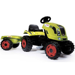 Tractor cu pedale si remorca Smoby Claas Farmer XL