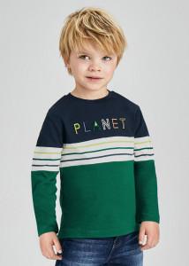 Tricou mânecă lungă în culori combinate, pentru băiat, Mayoral