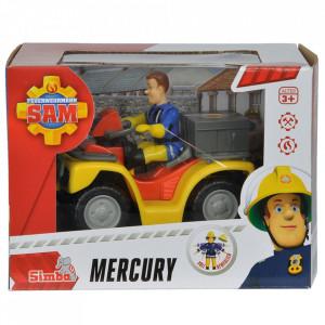 ATV Simba Fireman Sam, Sam Mercury Quad cu figurina Sam si accesorii
