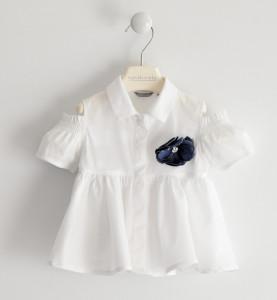 Cămașă albă pentru fetițe din bumbac, Sarabanda
