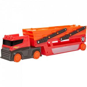 Camion Hot Wheels by Mattel Mega transportator cu trailer
