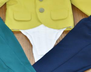 Costum de botez cu sacou galben verzui 5 piese