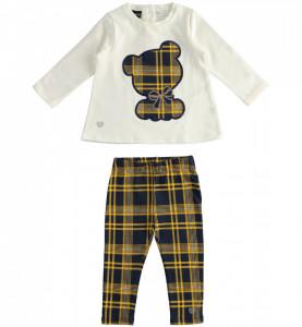 Costum de fetiță din bumbac, 2 piese, IDO