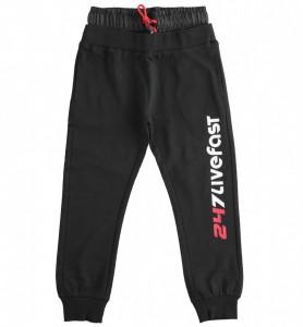 Pantalon de trening negru IDO pentru baieti adolescenti