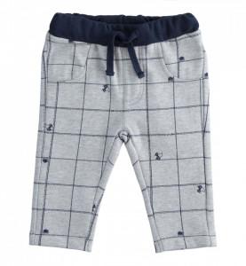 Pantalon lung din bumbac pentru bebeluș băiat nou născut, IDO