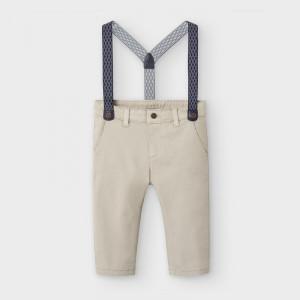 Pantaloni cu bretele de baieti