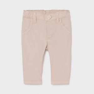 Pantaloni din tercot bej de bebe baiat Mayoral