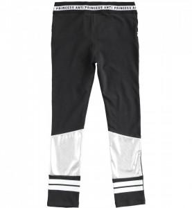 Pantaloni gen colant negru și argintiu de fată, IDO