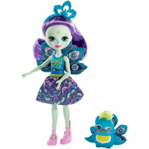 Papusa Enchantimals by Mattel Patter Peacock cu figurina