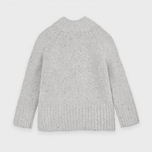 Pulovar Mayoral tricotat gri de fete