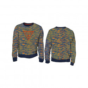 Pulovar tricotat din bumbac GUESS multicolor