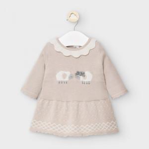 Rochie tricotată bebe fetiță, nou nascut, Mayoral