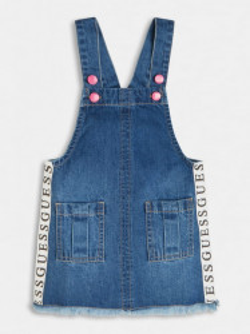 Salopetă de fetiță cu fustă Blue Jeans, Guess