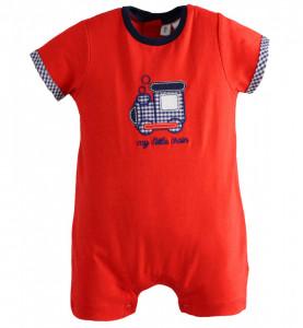Salopetă scurtă roșie pentru băiat nou născut, IDO