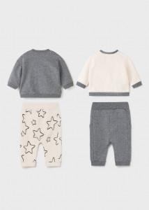 Set ECOFRIENDS, format din pantaloni și hanorac, pentru nou-născut băiat, Mayoral
