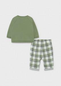 Set ECOFRIENDS, hanorac cu pantaloni lungi pentru nou-născut băiat, Mayoral
