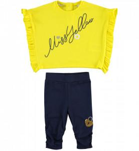 Set tricou galben + pantalon bleumarin,Ido