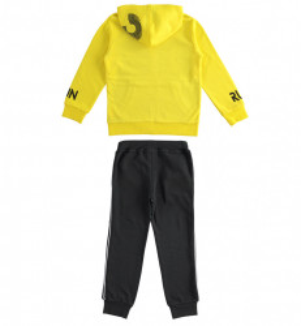 Trening adolescenți băieți, cu hanorac galben din bumbac, IDO