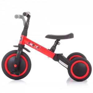 Tricicleta si bicicleta Chipolino Smarty 2 in 1 red