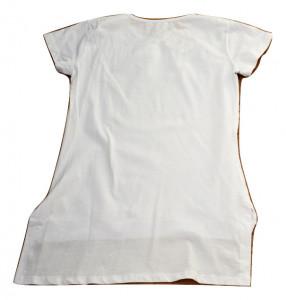 Tricou fete alb cu strasuri
