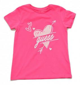 Tricou Guess roz cu inima