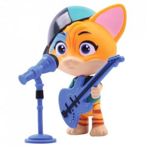 Figurina Smoby 44 Cats Lampo 7,7 cm cu microfon si chitara