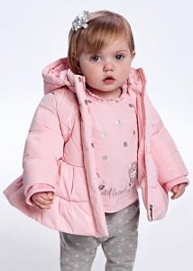 Geacă ECOFRIENDS roz cu glugă bebe fată, Mayoral