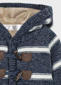 Jachetă tricot cu glugă pentru nou-născut băiat,Mayoral