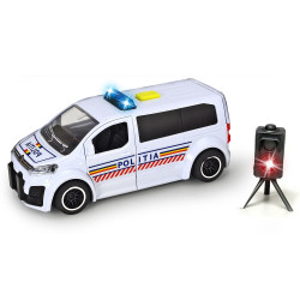 Masina de politie Dickie Toys Citroen SpaceTourer cu radar de viteza