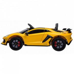 Masinuta electrica Chipolino Lamborghini Aventador SVJ yellow cu roti EVA