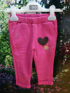 Pantalon de trening roz IDO din bumbac