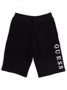 Pantalon scurt din bumbac negru Guess