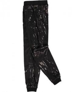 Pantaloni din paiete negre pentru fete si adolescente chiar pentru mamici