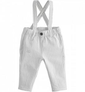 Pantaloni în dungi și cu bretele, pentru nou născut băiat, IDO