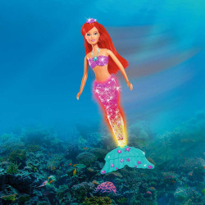 Papusa Simba Steffi Love Light & Glitter Mermaid 34 cm
