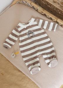 Pijama cu dungi pentru nou-născut băiat, Mayoral