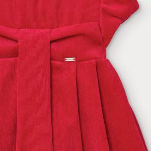 Rochie de fete din catifea roz Mayoral
