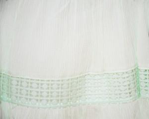 Rochita verde menta cu vesta de blugi