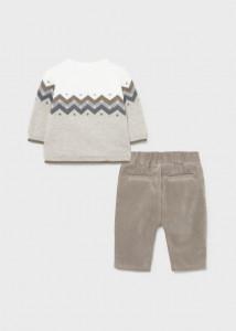 Set ECOFRIENDS din pulover și pantaloni nou-născut băiat, Mayoral