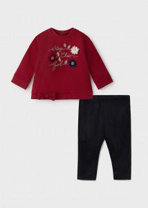 Set leggings cu floare pentru bebe fată, Mayoral
