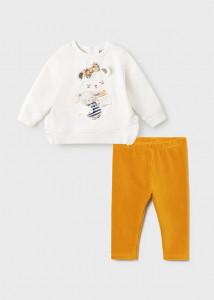 Set leggings cu reiați pentru bebe fată, Mayoral