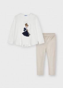 Set leggings, tricou și pantalon, pentru fată