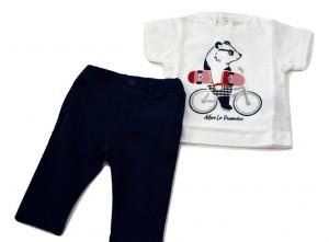 Tricou din bumbac pentru băiat nou născut, Sarabanda
