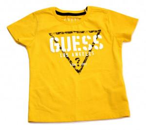 Tricou Guess logo, galben