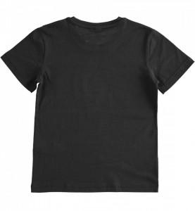 Tricou negru cu maneca scurta din bumbac IDO